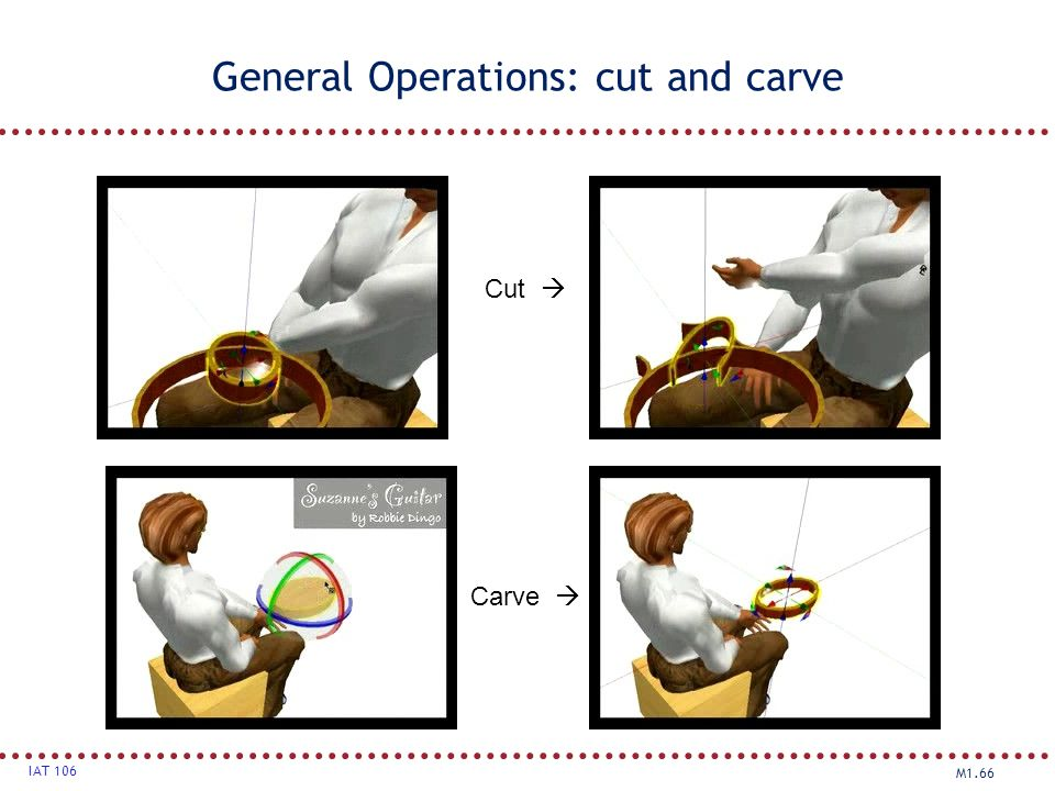 General Operations: cut and carve