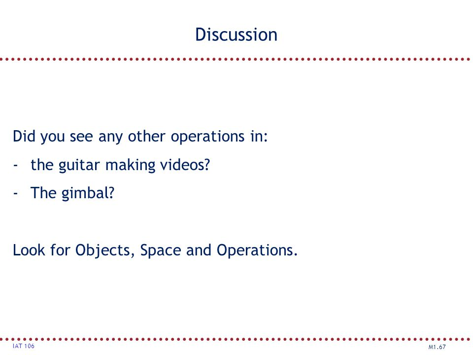 Discussion Did you see any other operations in: