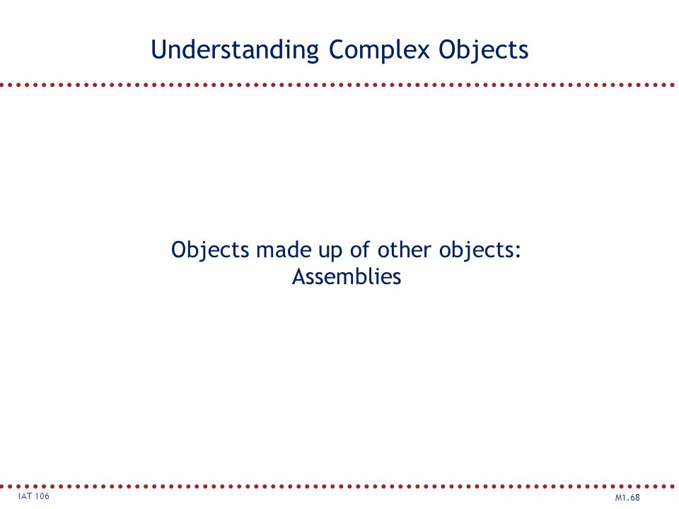 Understanding Complex Objects