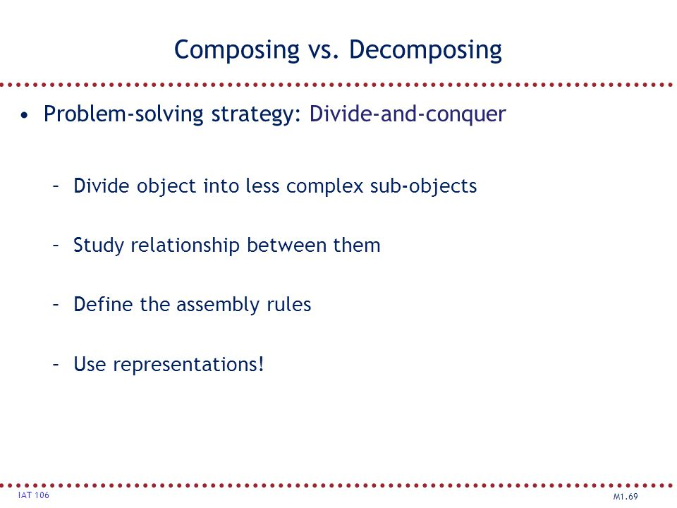 Composing vs. Decomposing