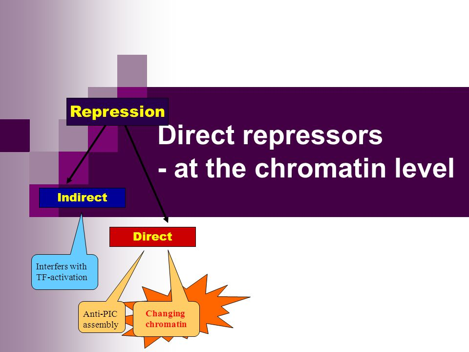 Direct repressors - at the chromatin level