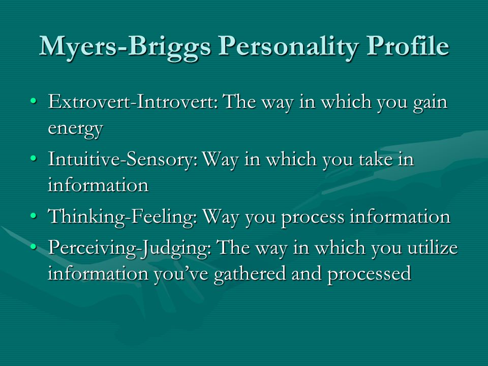 Myers-Briggs Personality Profile