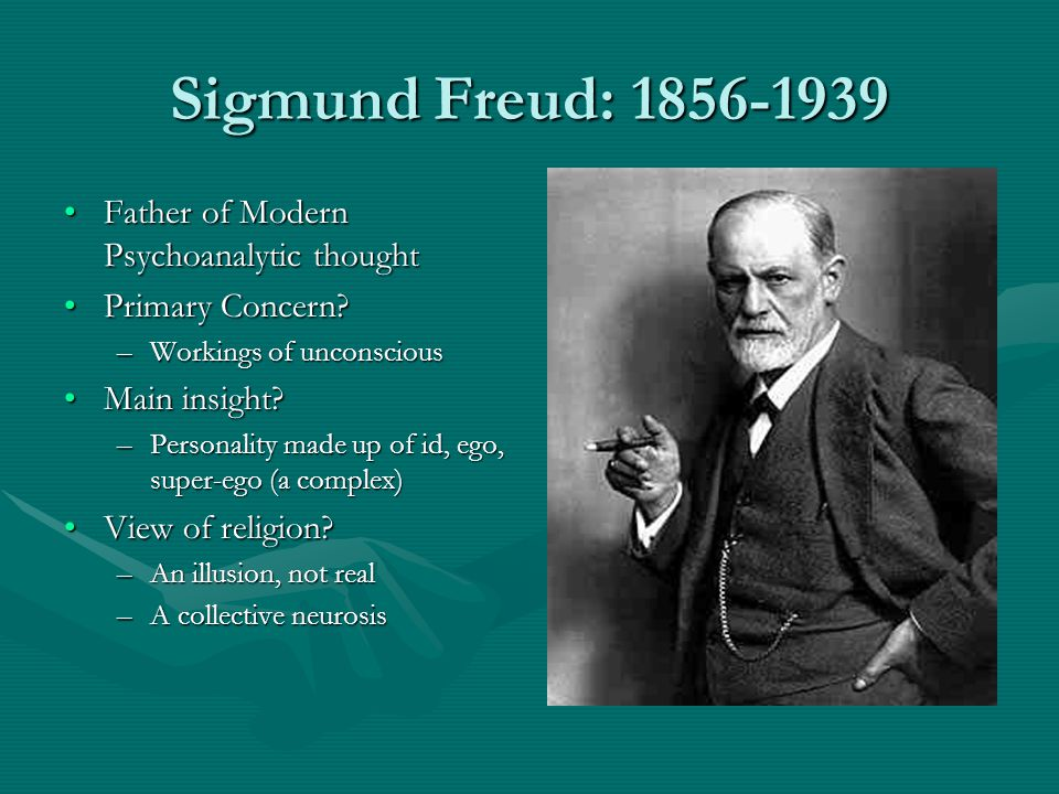 Sigmund Freud: 1856-1939 Father of Modern Psychoanalytic thought