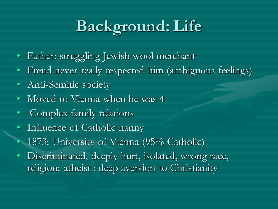 Background: Life Father: struggling Jewish wool merchant