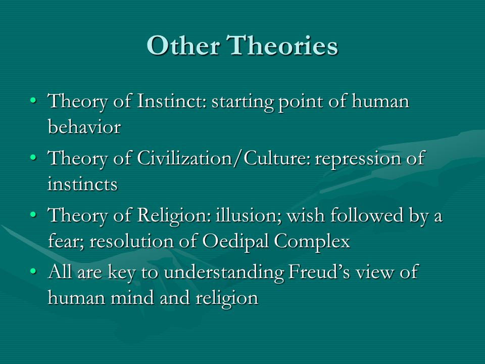 Other Theories Theory of Instinct: starting point of human behavior