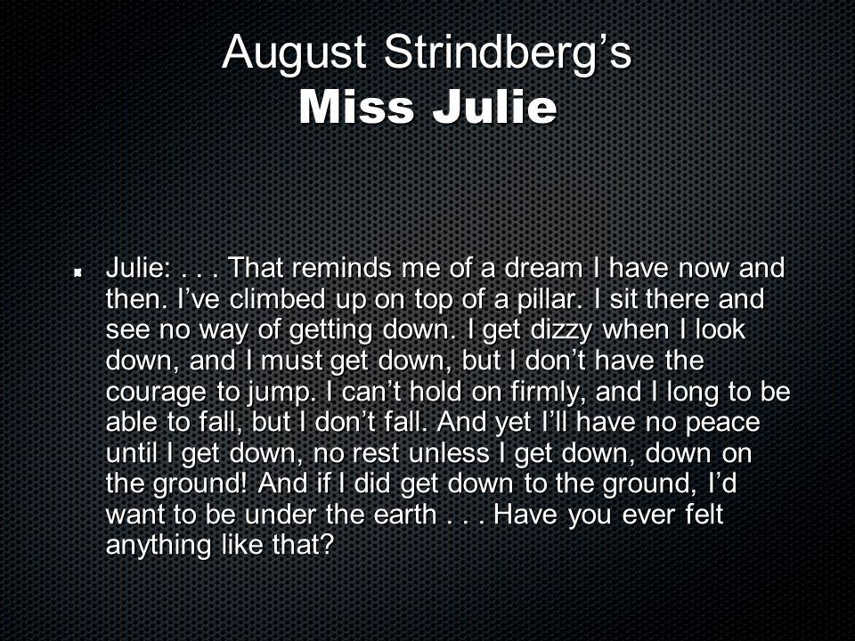 August Strindberg's Miss Julie
