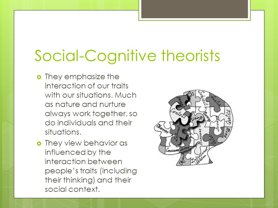 Social-Cognitive theorists