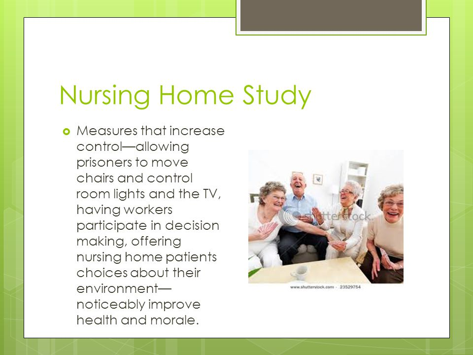 Nursing Home Study