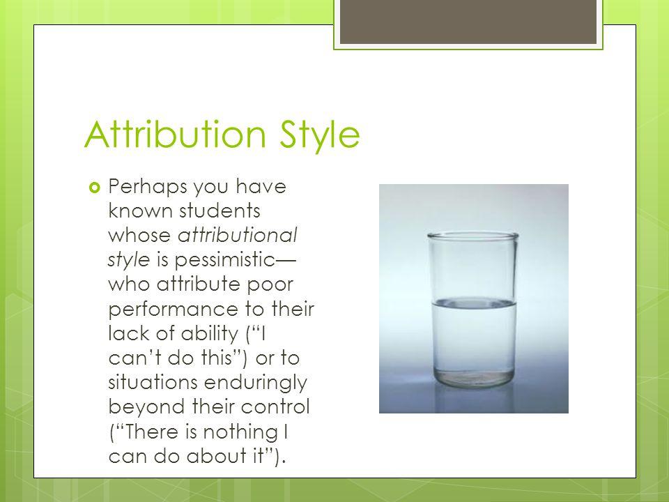 Attribution Style
