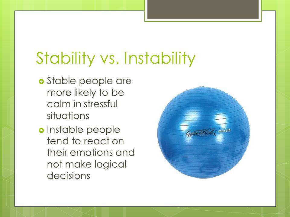 Stability vs. Instability