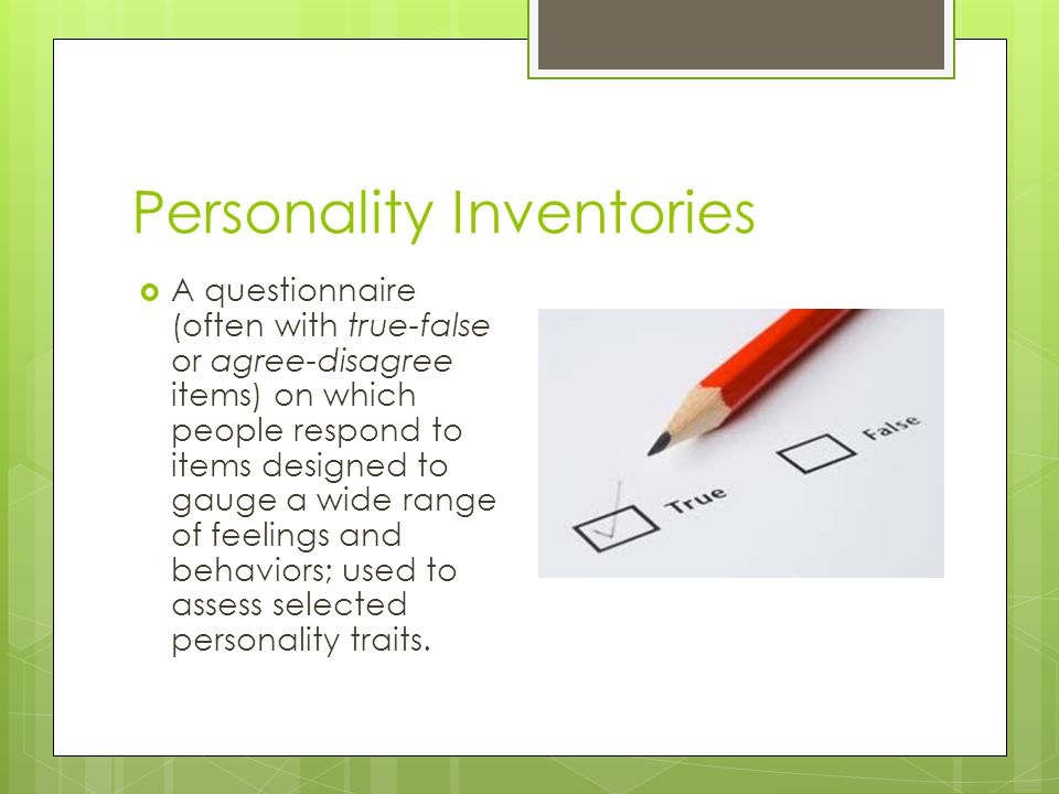 Personality Inventories