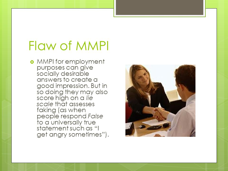 Flaw of MMPI