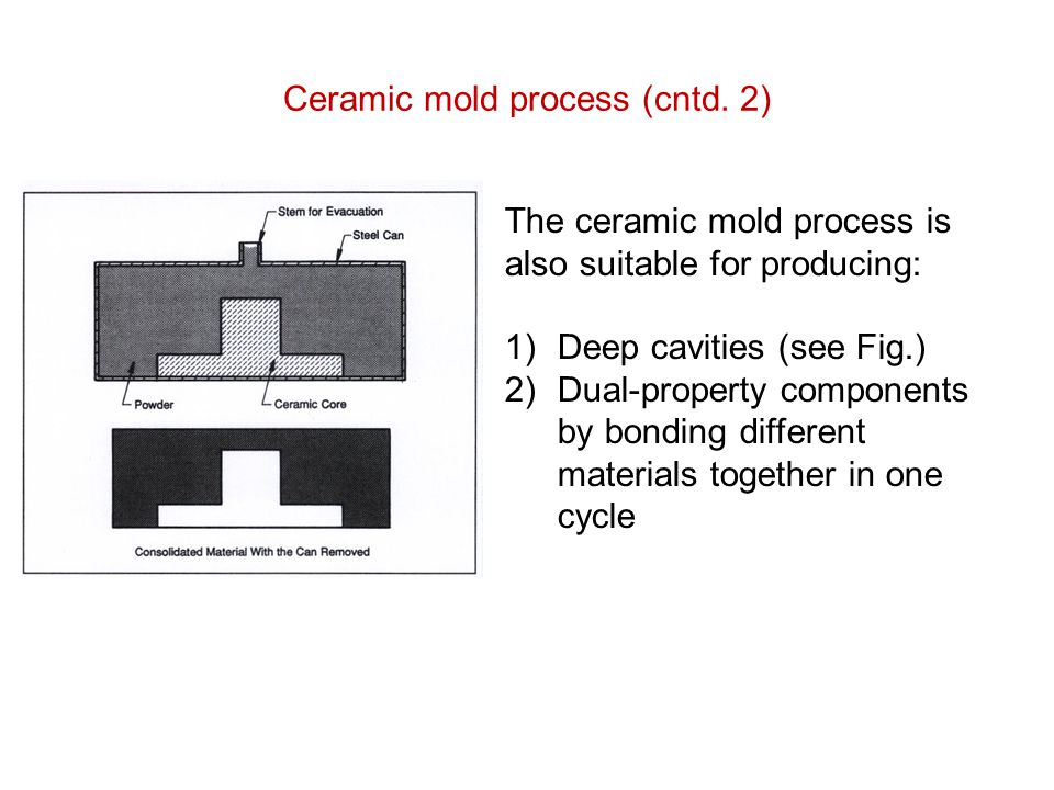 Ceramic mold process (cntd. 2)