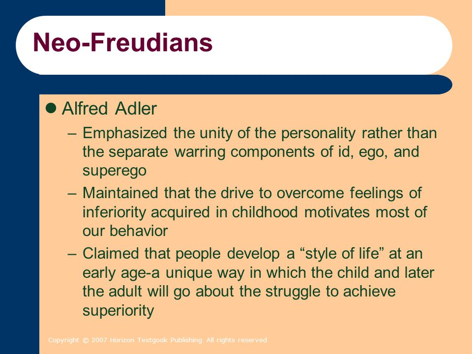 alfred adler personality theory pdf