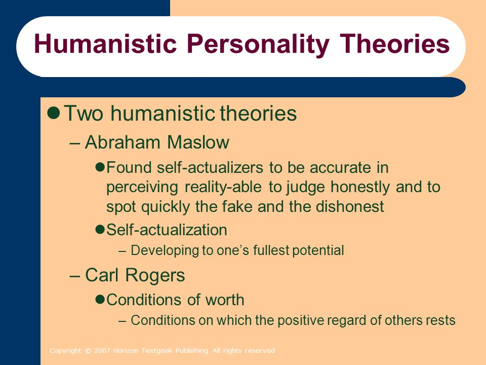 Humanistic Personality Theories
