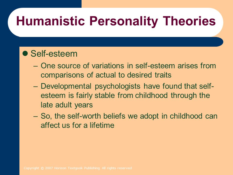 humanistic theory personality and cultural utility About karen horney 1 horney & humanistic [this is a revised version of the chapter on karen horney that appeared in personality and orthodox theory.