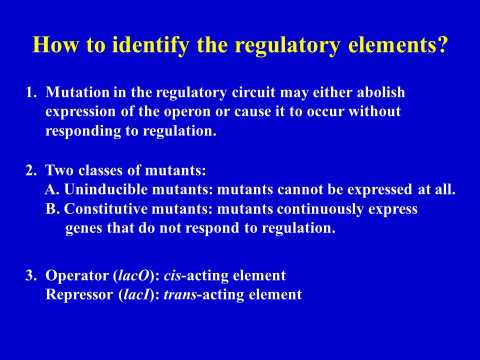 How to identify the regulatory elements