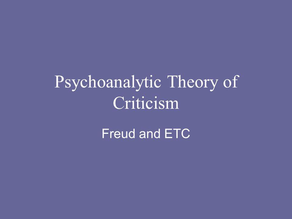Psychoanalytic Theory of Criticism