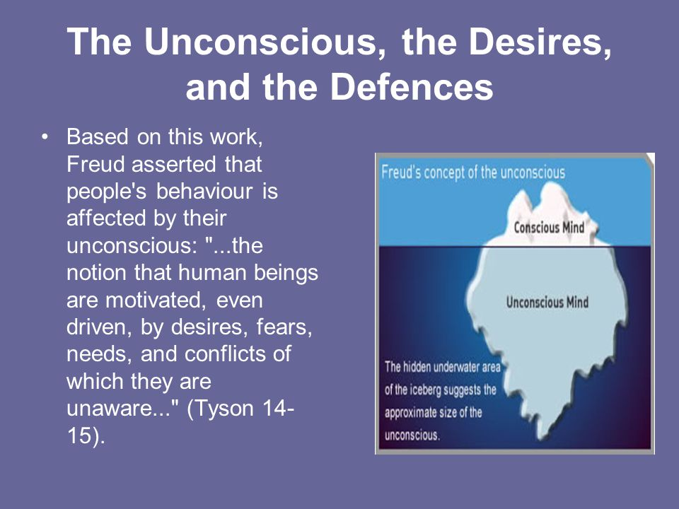 The Unconscious, the Desires, and the Defences