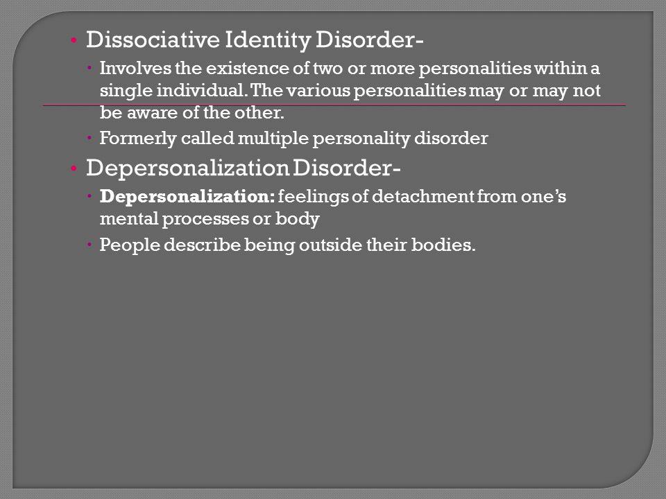 Dissociative Identity Disorder-