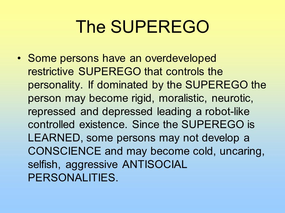 The SUPEREGO