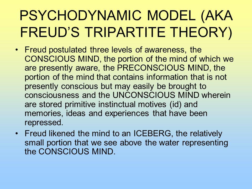PSYCHODYNAMIC MODEL (AKA FREUD'S TRIPARTITE THEORY)