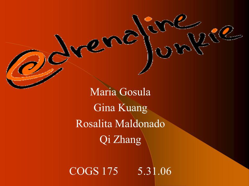Maria Gosula Gina Kuang Rosalita Maldonado Qi Zhang COGS 175 5.31.06