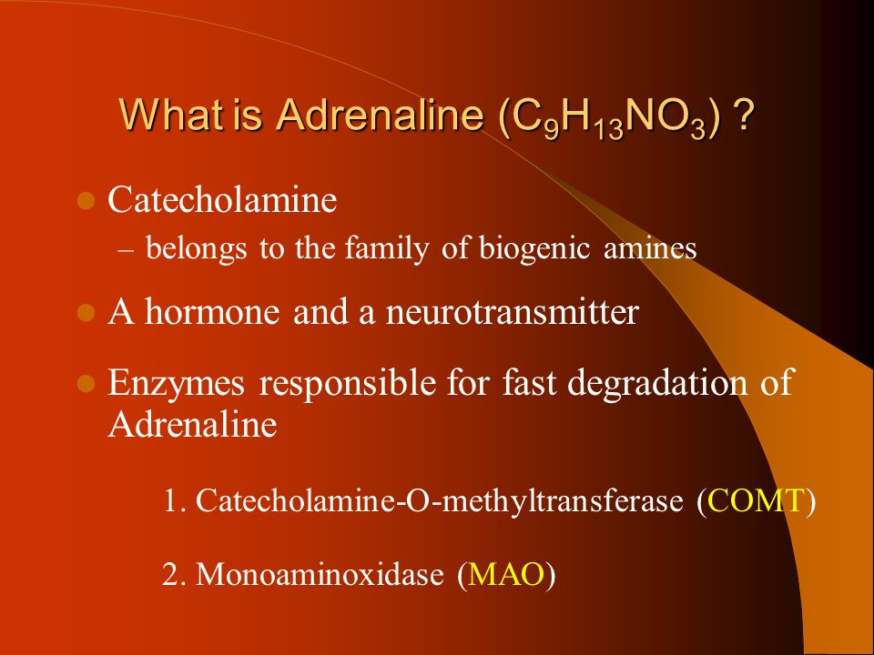 What is Adrenaline (C9H13NO3)