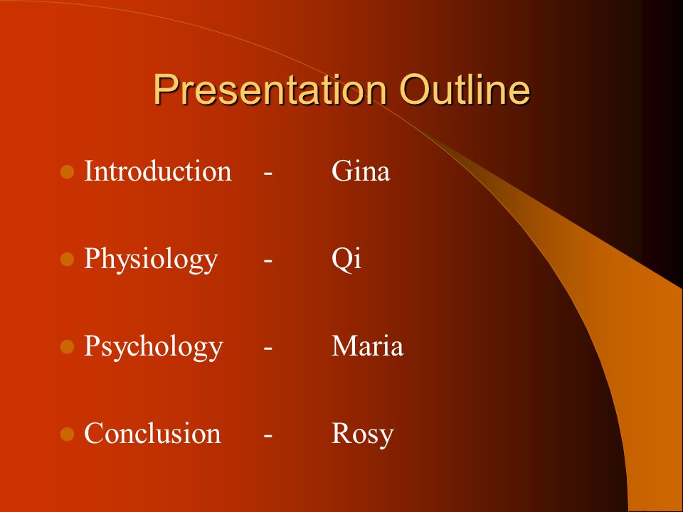 Presentation Outline Introduction - Gina Physiology - Qi