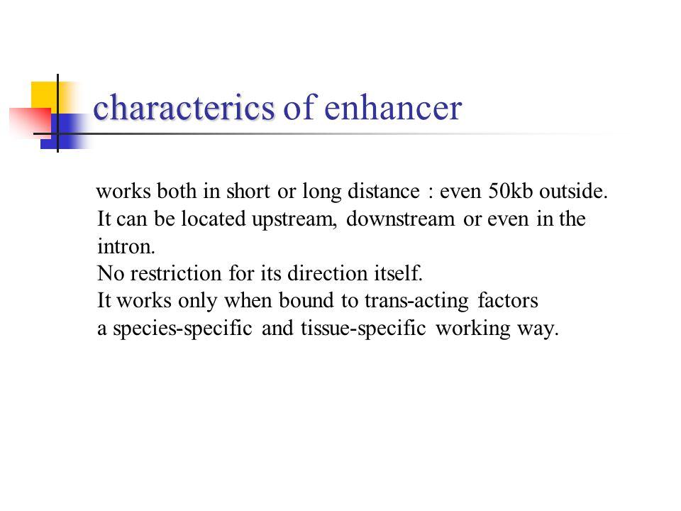characterics of enhancer