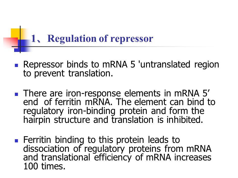 1、Regulation of repressor