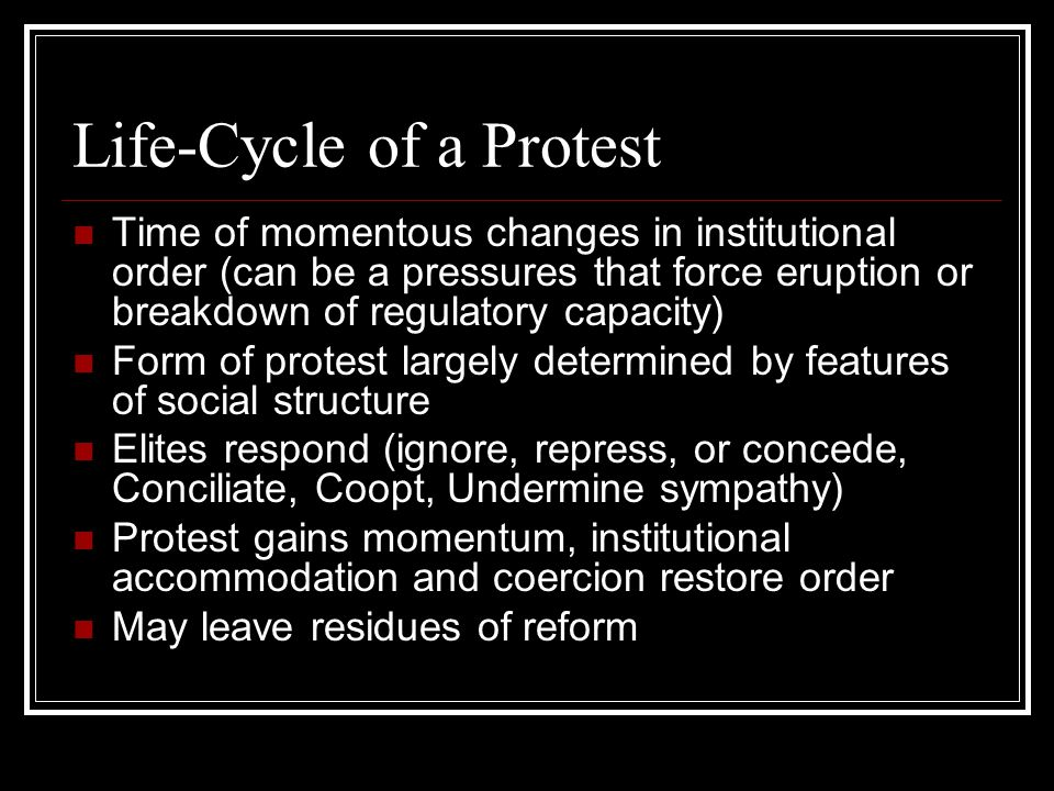 Life-Cycle of a Protest