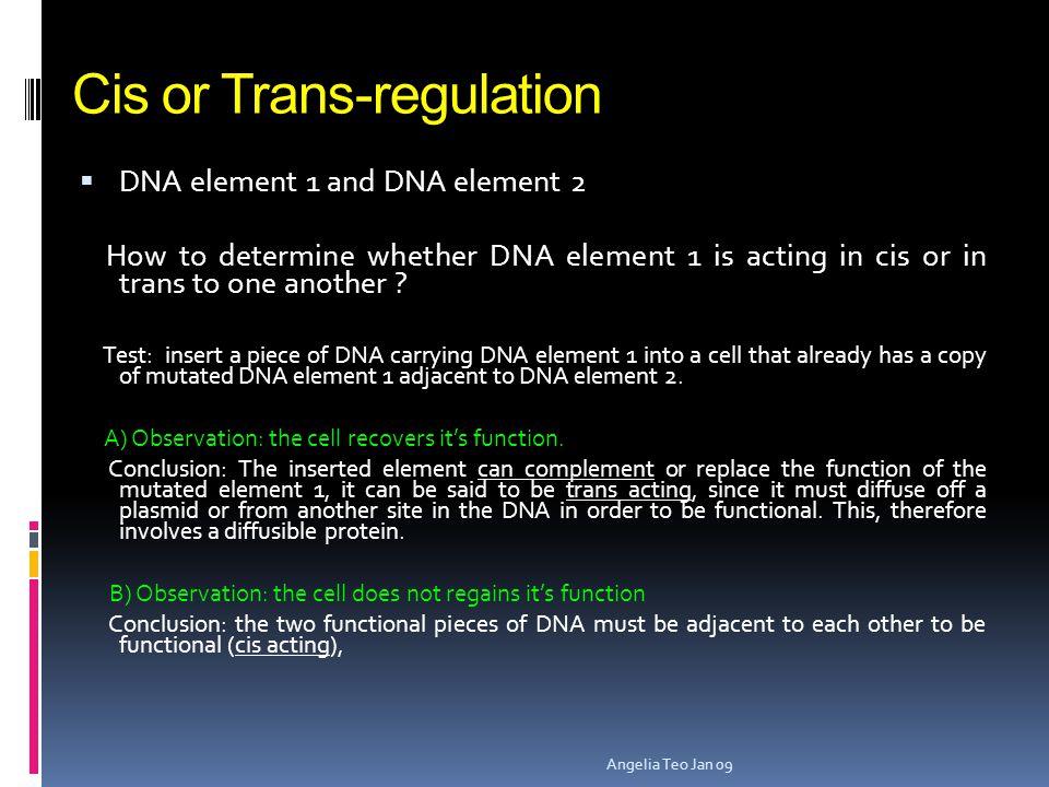 Cis or Trans-regulation