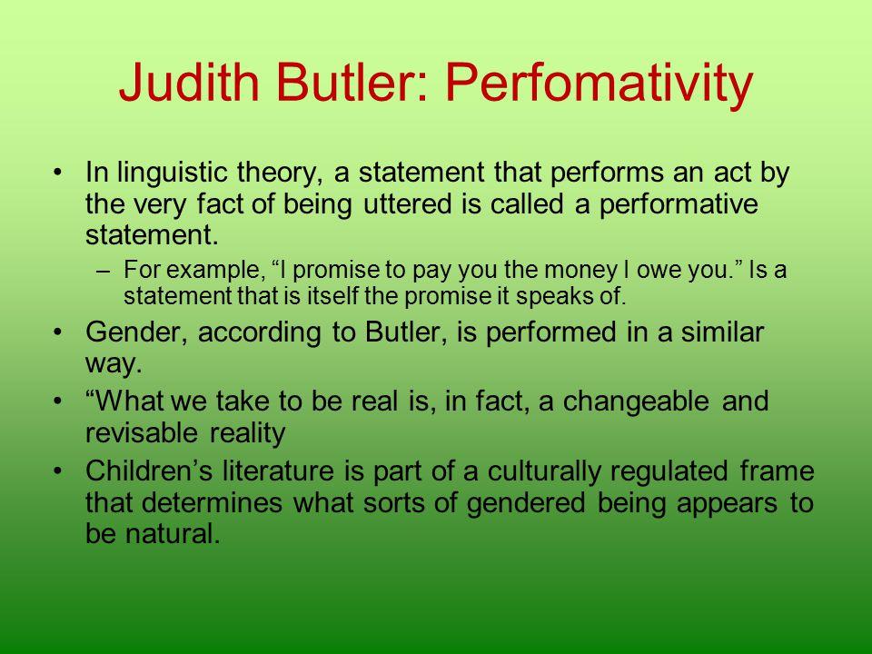 Judith Butler: Perfomativity