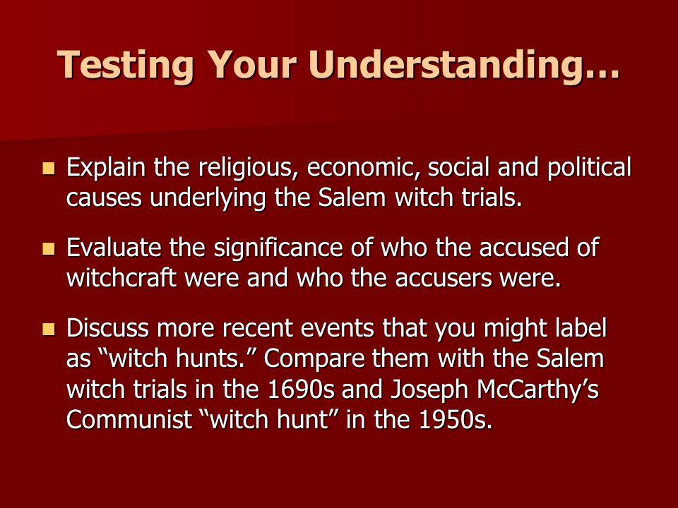 Testing Your Understanding…