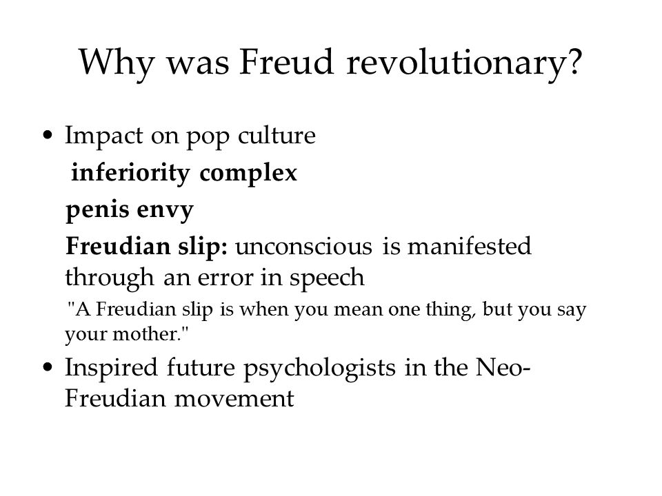 Why was Freud revolutionary