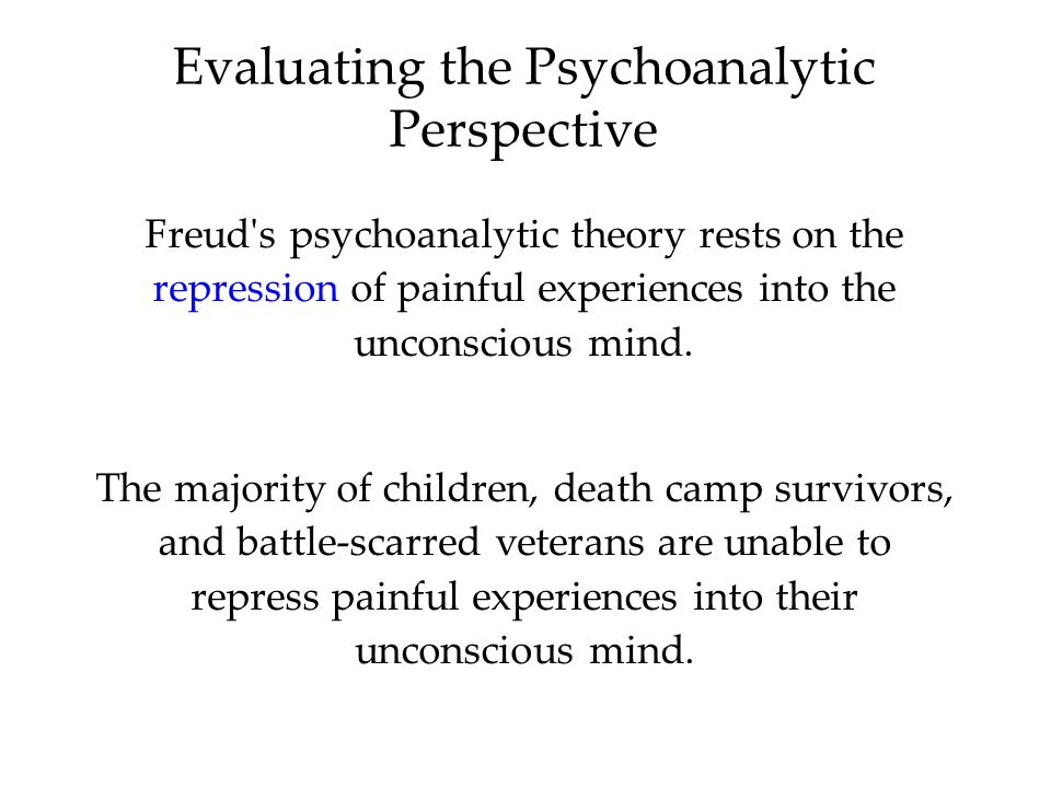 Evaluating the Psychoanalytic Perspective