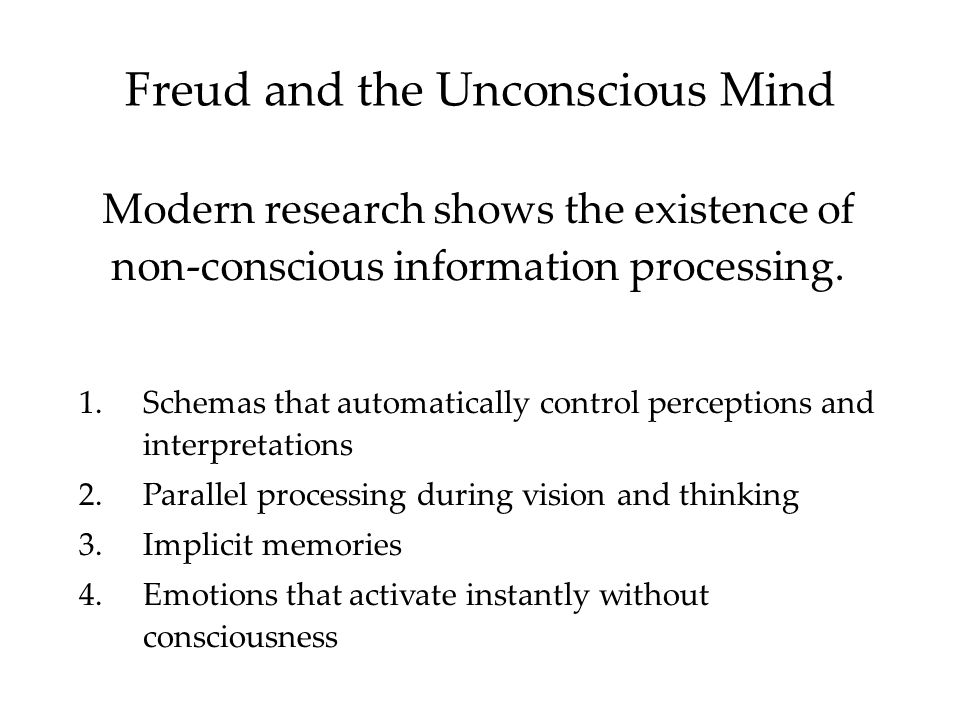 Freud and the Unconscious Mind