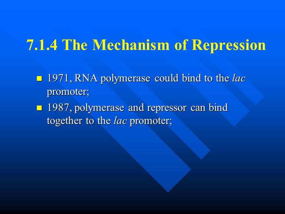 7.1.4 The Mechanism of Repression