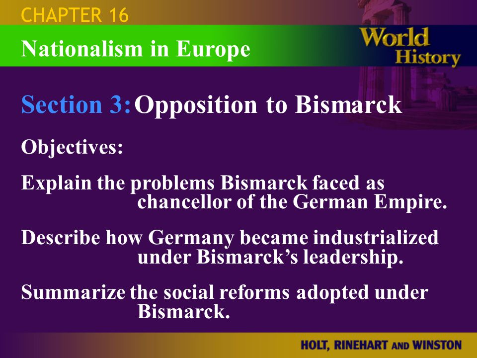 Section 3: Opposition to Bismarck
