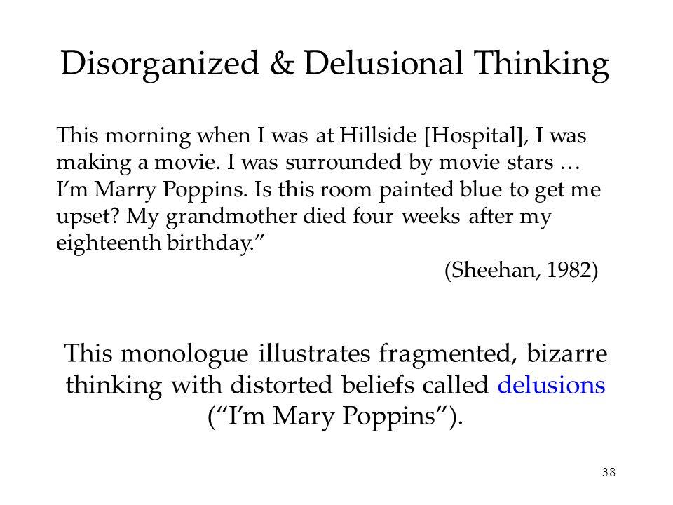 Disorganized & Delusional Thinking