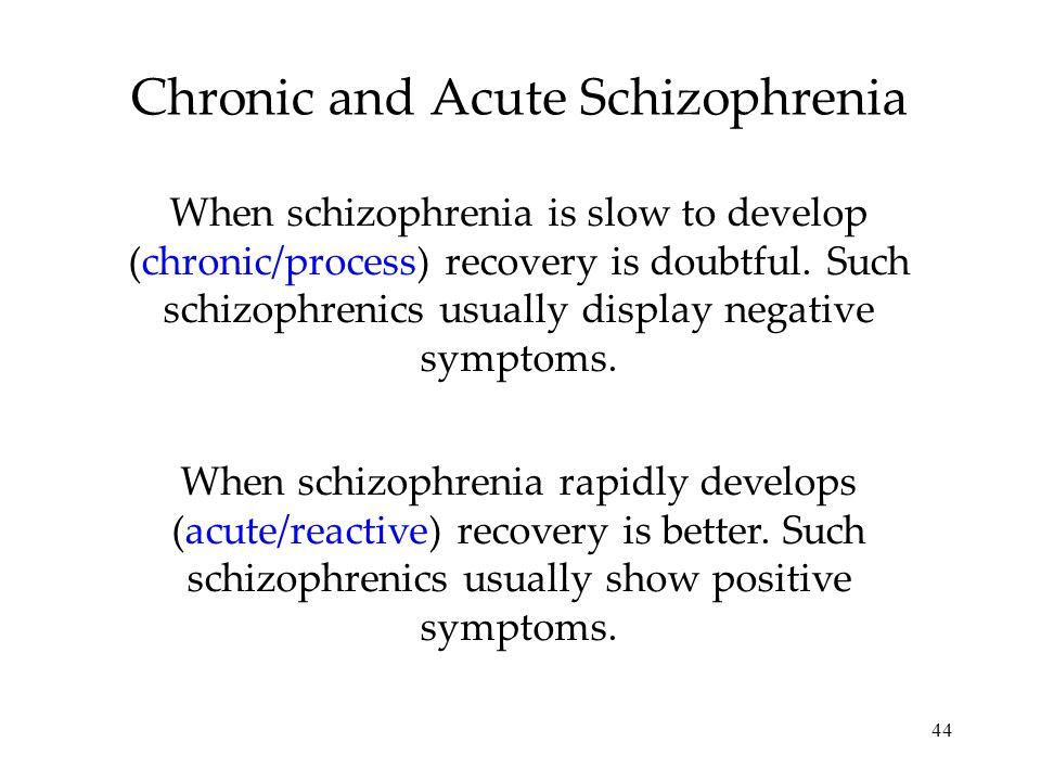 Chronic and Acute Schizophrenia