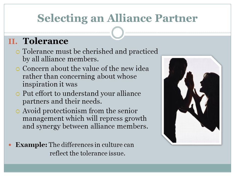 Selecting an Alliance Partner