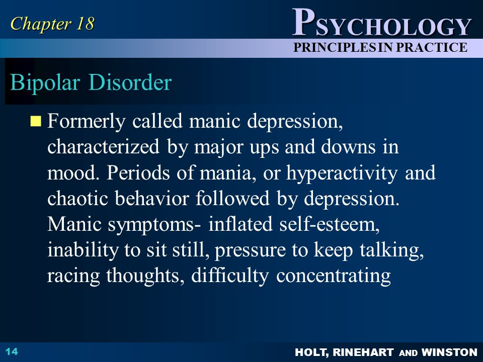Chapter 18 Bipolar Disorder.