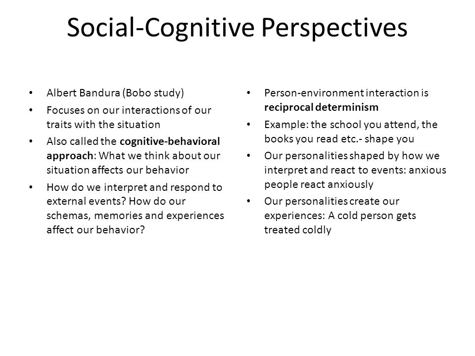 Social-Cognitive Perspectives