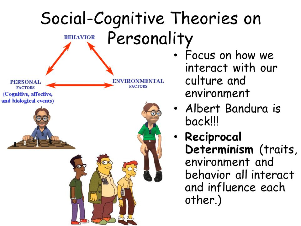 behavioral theory influence on personality Personality and bandura in his social cognitive theory of personality, bandura included the concept of observational learning as one of the main theoretical points he argued that reinforcement does not simply work as a mechanism, but it is actually the provider of information of the next reinforcement to be given once the behavior is repeated.
