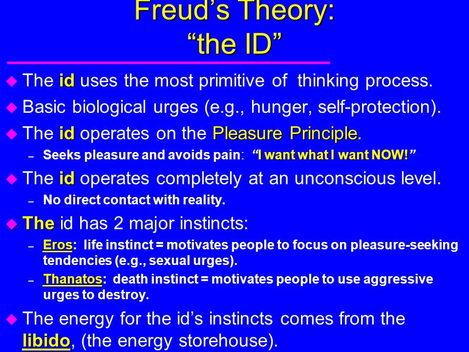 Freud's Theory: the ID