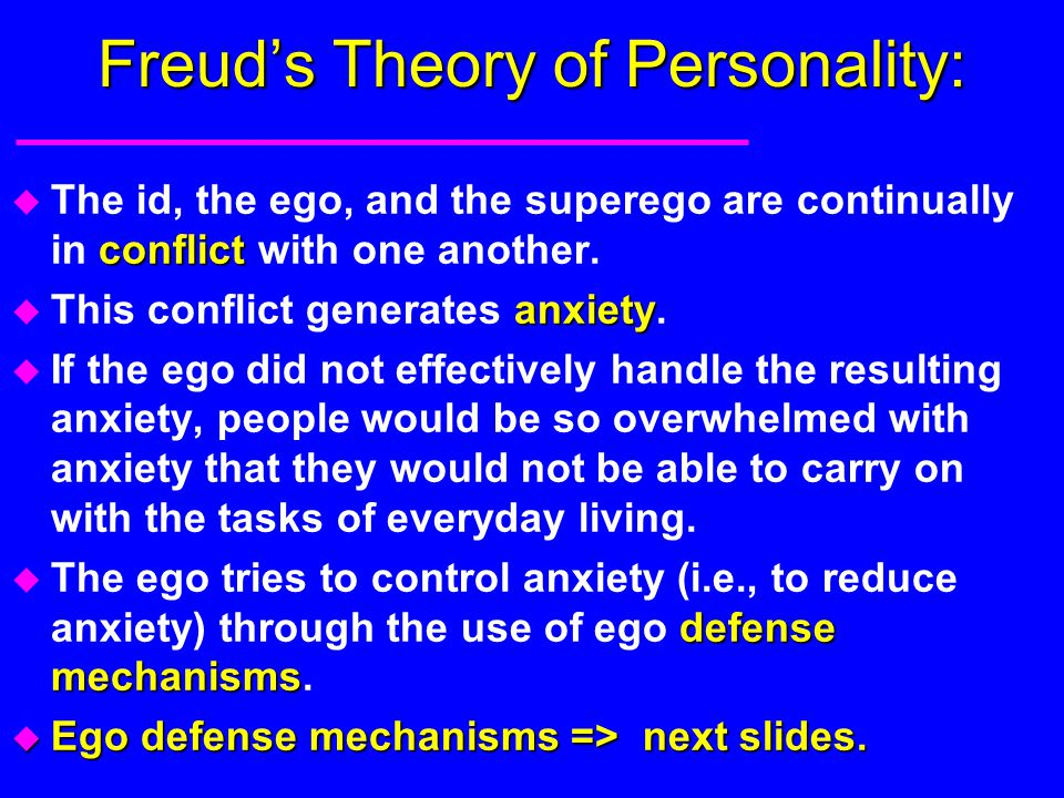 Freud's Theory of Personality:
