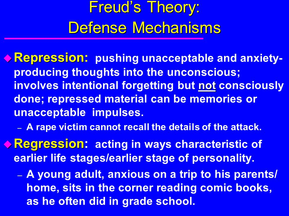Freud's Theory: Defense Mechanisms