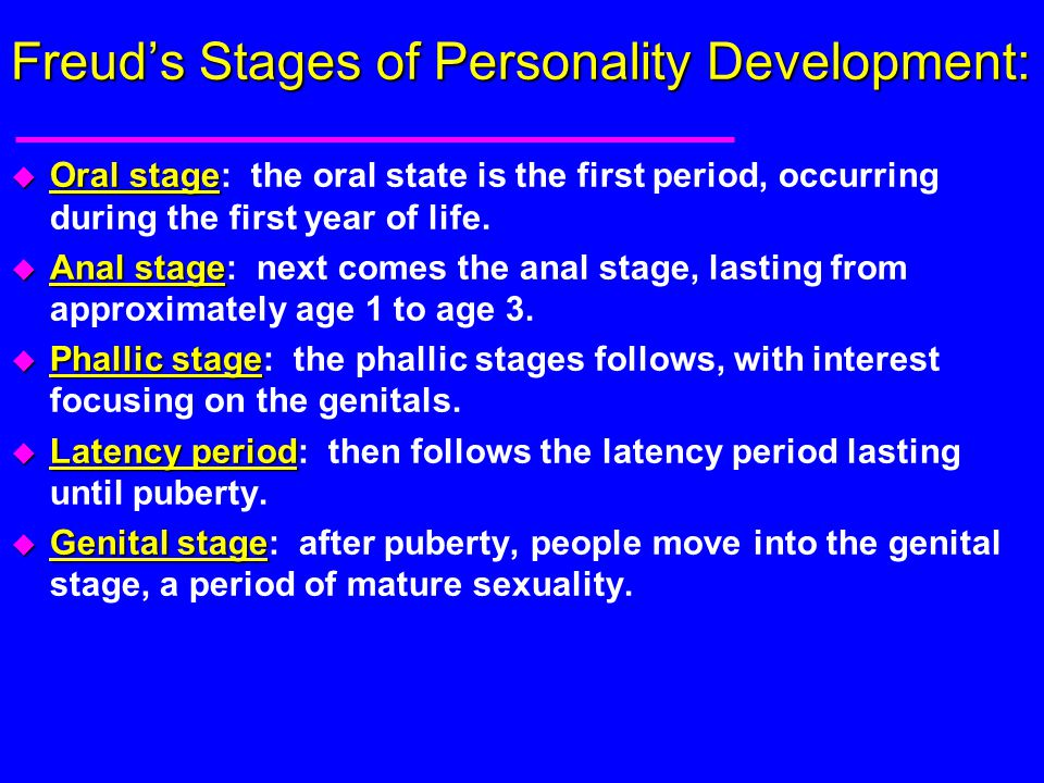 Freud's Stages of Personality Development: